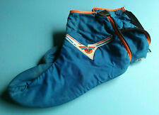Vintage blue Vittoria cold weather cycling shoe covers / booties