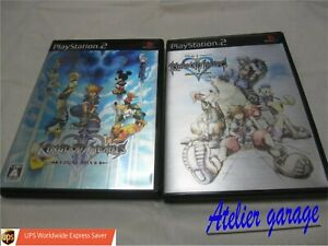 W/Tracking Number. English PS2 Kingdom Hearts Final Mix 1 & 2 2 Set Japanese Ver
