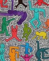 Untitled: Homage to Haring, Original Drawing, Chris van der Els
