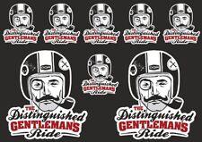 Distinguished GENTLEMANS Ride Decal Sheet Sticker Graphic Set Logo Adhesive 8 Pc