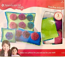 New American Girl Crafts Pom Pom Pillows Kit - Blue And Green