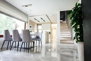 £23.89/m2 Light Grey Concrete High Gloss Porcelain Tile 120x60 Wall-Floor SAMPLE
