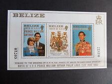 Belize 1982 Royal Baby William MS720 Miniature large type OP overprint MNH UM