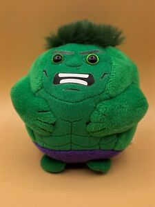 Hulk Marvel TY Beanie Babies Ballz Kids Soft Plush Toy Doll 2014 Stuffed Animal
