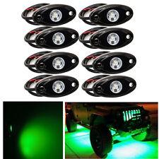"8x 2"" GREEN CREE LED Rock Light Off-Road Underglow Foot Wheel Well Lights Trucks"