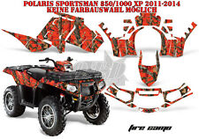 AMR RACING DEKOR GRAPHIC KIT ATV POLARIS SPORTSMAN MODELLE FIRE CAMO B