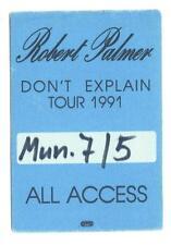 Robert Palmer - Don´t ExplainTour 1991 - Konzert-Satin-Pass All Access - Sammler