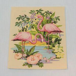 Vintage Pink FLAMINGO Medium 8 inch DECAL Liberty Company Free US Shipping!