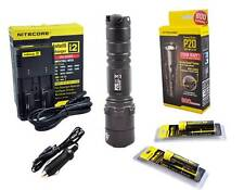 Nitecore P20 Tactical LED Flashlight /w New I2 Charger & 2x18650 [P16 P12]