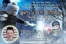 Personalised Lego Harry Potter Birthday Spiderman Invitations Party Photo invite