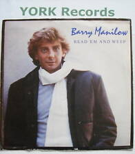"BARRY MANILOW - Read 'Em & Weep - Ex Con 7"" Single"