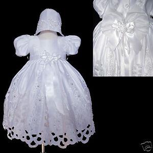 Infant Girl & Toddler Baptism, Christening,Wedding Formal Occasion Dress white