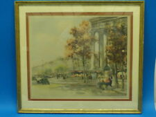 "CHARLES BLONDIN ""PARIS STREET"" ETCHING SIGNED NUMBERED"