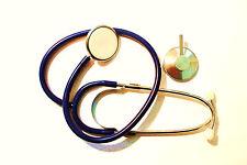 Stethoskop Stetoskop Flachkopf Einzelkopf Schwester Karneval Fasching, blau