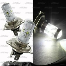 1x Pair Toyota Suzuki Volkswagen H4 9003 HB2 30 Watt 6 LED White Projector Bulbs