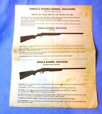 Savage Series 94 94C Single Double Barrel Shotgun Owners Instruction Manual 1978