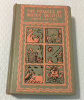 Vintage The Voyages of Doctor Dolittle, Hugh Lofting, 1950 36th Printing-ExLib