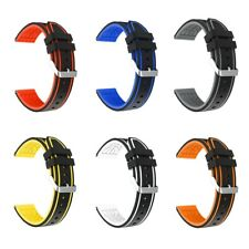 For Samsung Galaxy 3 Watch  Double Color Silicone Sports Band Strap Replacement