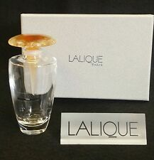 LALIQUE BUCOLIQUE PERFUME BOTTLE WITH AMBER STOPPER *NEW IN BOX*
