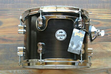 "PDP by DW 12"" CONCEPT MAPLE 7-PLY RACK TOM in EBONY STAIN for YOUR SET! LOT Z498"