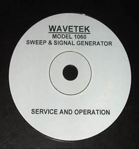 WAVETEK 1060  1061 1062 1066 1067 SERVICE & OPERATION MANUAL
