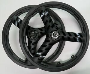 Old School ACS Stealth Mags Set RHD & LHD Freewheel Tri Spoke 3/8 inch Axles