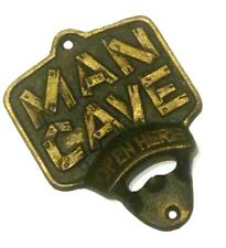 Man Cave Bottle Opener Metal Cast Iron New 5 1/2x4 inches