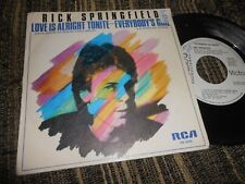 "RICK SPRINGFIELD LOVE IS ALRIGHT TONITE/+1 SINGLE 7"" 1981 RCA SPAIN PROMO"
