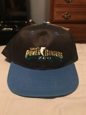 Vintage Saban's Power Rangers ZEO Youth Snapback Hat Cap 1996 NWT BLACK Childs