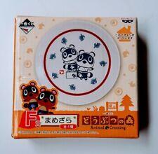 Animal Crossing Mini Plate Dish Ichiban kuji F prize Mamezara Banpresto NINTENDO