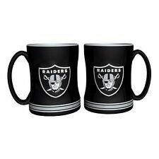 NFL Oakland Raiders Black 14 oz Ceramic Relief Mug