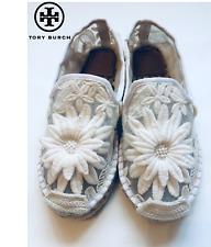 Tory Burch White Slip-On Espadrilles Sneaker Loafer Size 5M