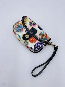 Disney Dooney & Bourke Button Mickey Dumbo Tinker Bell Flap Wristlet Wallet