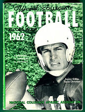 RARE! 1962 COLLEGE FOOTBALL RECORD BOOK-GREAT PHOTOS, BIOS, STATS