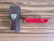 Victorinox Deluxe Tinker Swiss Army Knife w/Leather Sheath Great Condition! 008R