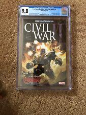Civil War 1 Fcbd Free Comic Book Day Cgc 9.8