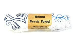 Traveler Essentials-Round Beach Sandproof Mandala Microfiber Towel(150cm Diam)