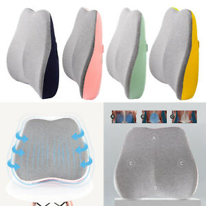 1x Memory Foam Lumbar Support Cushion Breathable Pain Relief Office Computer