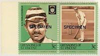 St Vincent Grenadines #404 MNH Specimen CV$0.50 Cricket Ranjitsinhji
