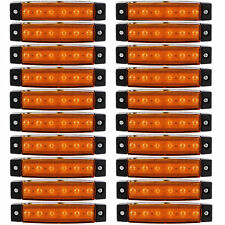20x 6 LED Side Marker Indicators Lights Lamp Lorries Truck Trailer Clearance 12V