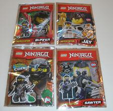 LEGO Ninjago - Jay, Buffer, Sawyer & Cole Minifiguren Limited Edition OVP