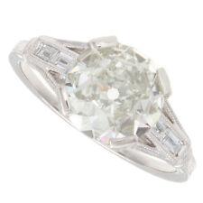 2.00ct Old European Cut Certified Platinum Antique Diamond Engagement Ring
