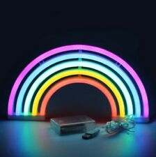Rainbow Night Light Neon Wall 5 Color Sign Battery Or Usb Operated Led