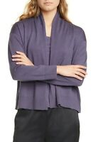 Eileen Fisher Women's Wool Open Front Cardigan Sweater Large NWT N3315 $248