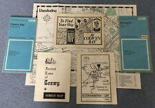 Set N.Wales Ancient O/S, Accom'n & Street Maps-V.Good Condition