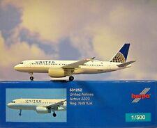 Herpa Wings 1 500 Airbus A320 United Airlines N491ua 531252