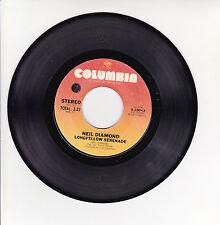 "Neil DIAMOND Vinyl 45T 7"" LONGFELLOW SERENADE - COLUMBIA 3-10043 F Rèduit RARE"