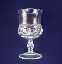 Indiana Glass King's Crown Thumbprint Clear Glass Wine Juice Glass Goblet 6 oz