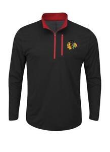 New Licensed Chicago Blackhawks 14 Zip Youth/Boys Wind Shirt Size M 8/10 __S04