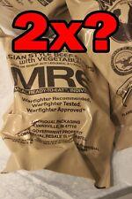 2 x RANDOM AMERICAN MRE. New 2022 genuine food rations. CAMPING FOOD. US